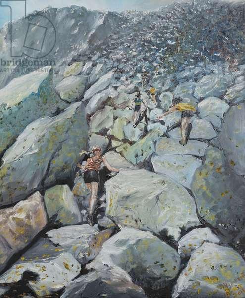 Uphill Fell race, 2013, (oil on canvas)