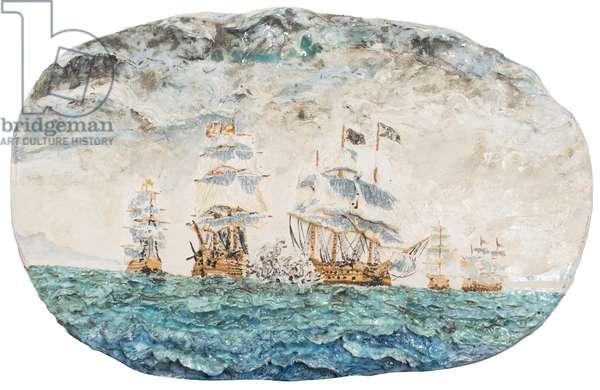 Battle of Trafalgar 1805, 1998, (glazed porcelain ceramic)