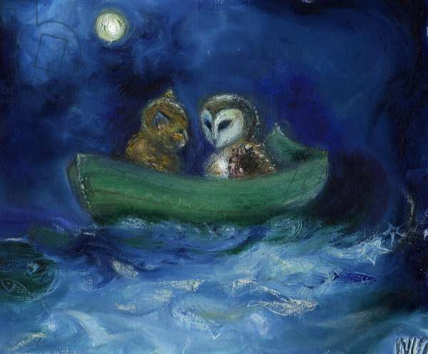 The Owl and the Pussycat, 2014, (oil on board)
