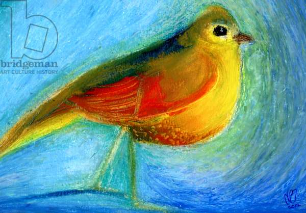 The Wishing Bird, 2012, (oil pastel on paper)