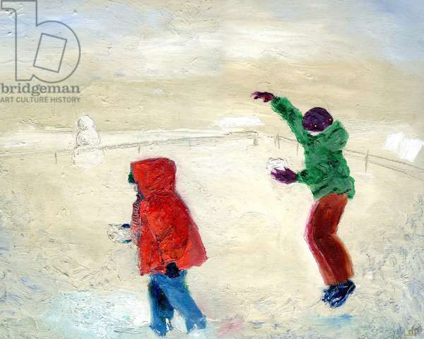 Snow! 2014, (oil on canvas)