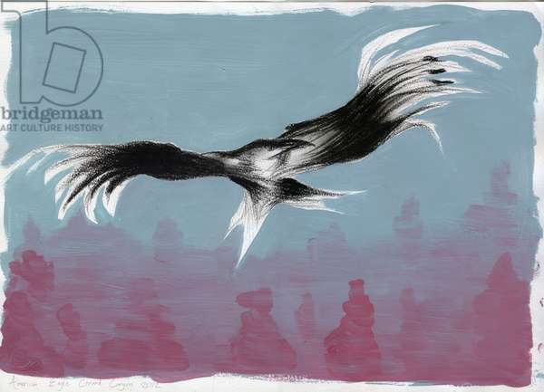 Canyon Eagle, 2014, (gouache & charcoal on paper)