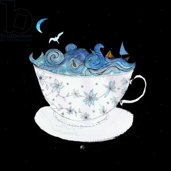 A Storm in a Teacup, 2020 (mixed media)