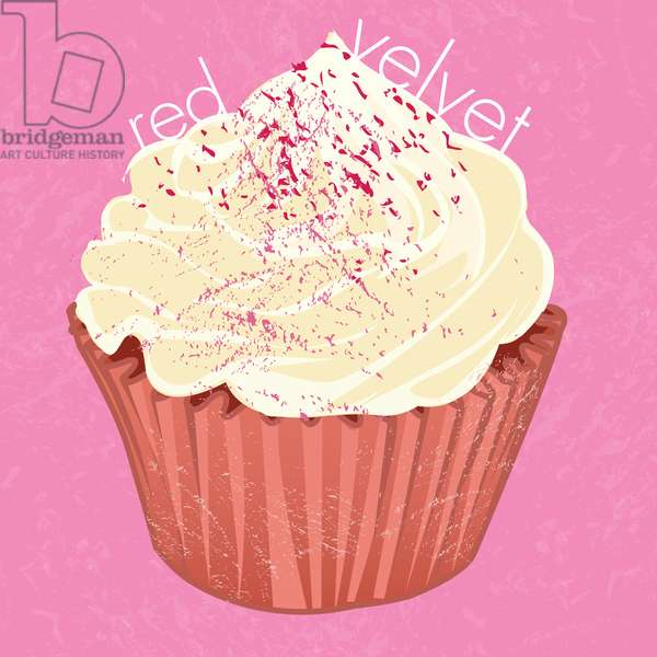 Red Velvet Cupcake, 2019, (digital art)