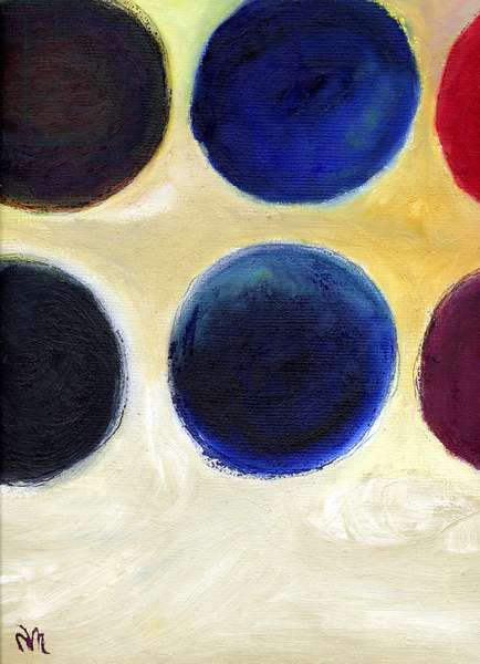 The Happy Dots 8, 2014, (oil on board)