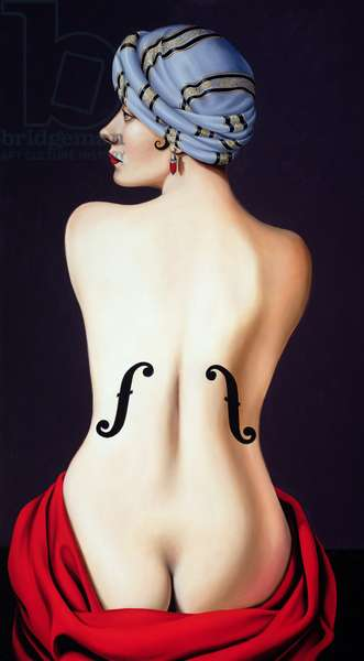 Homage to Man Ray (oil on canvas)