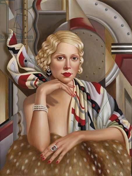 La Femme en Soie (oil on linen)