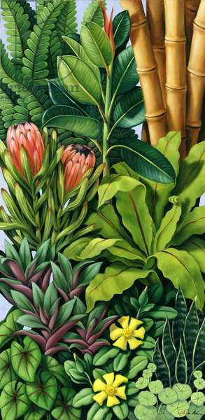 Foliage III (oil on canvas)