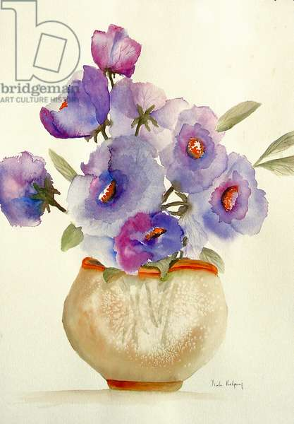 Purple Anemones in a vase