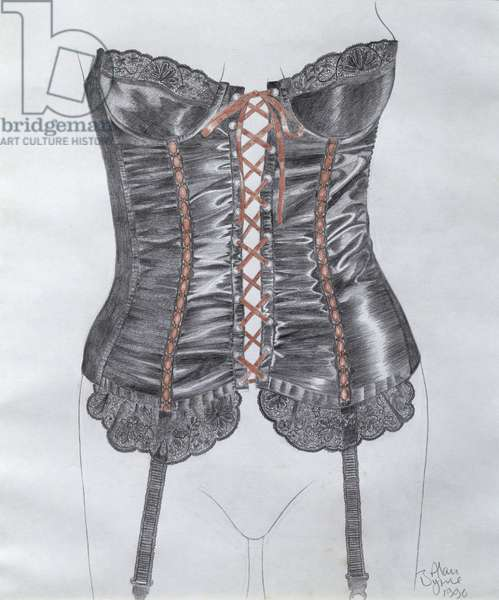 Corset, 1990 (pencil and w/c on paper)