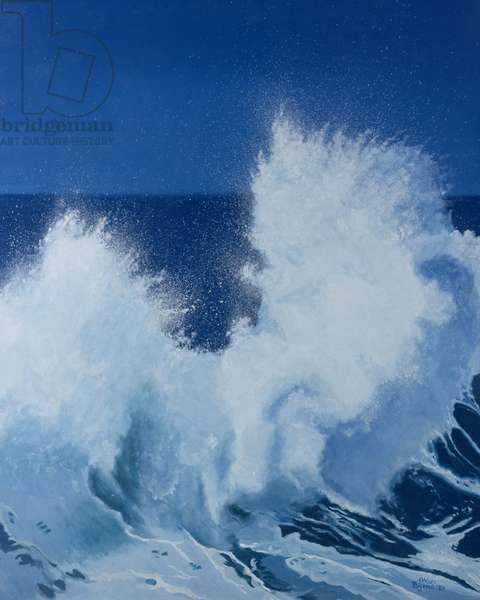 Two Little Waves Breaking, 1989 (oil on canvas)