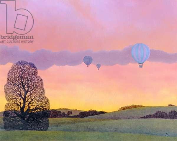 Balloon Race, 2004 (oil on canvas)