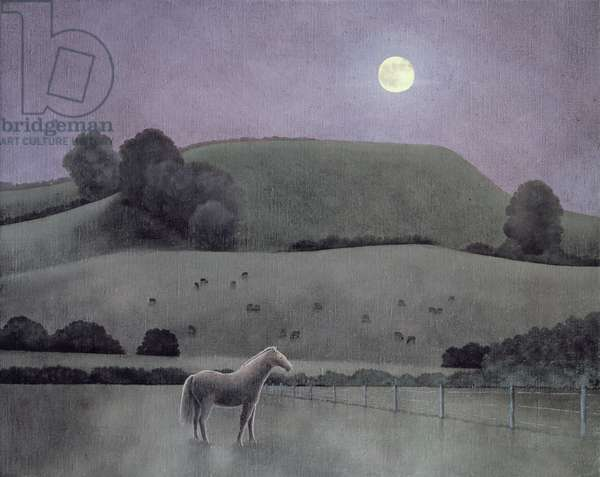 Horse in Moonlight, 2005 (oil on canvas)