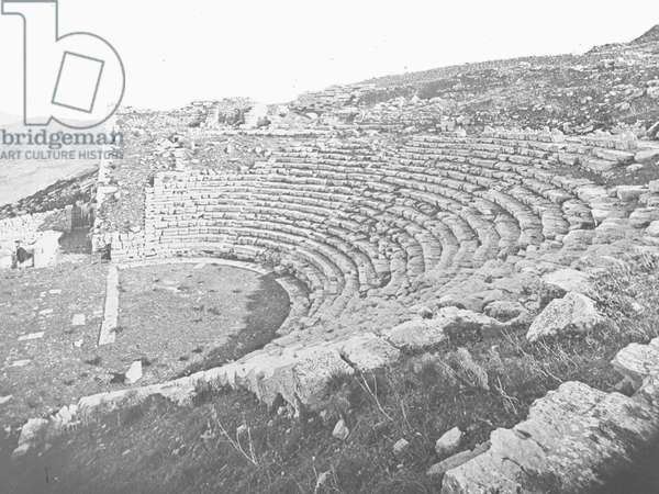 A view of an amphitheatre on Sicily, 1930s-60s (b/w photo)