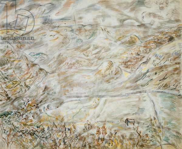 Landscape, 1946 (pencil and w/c on paper)