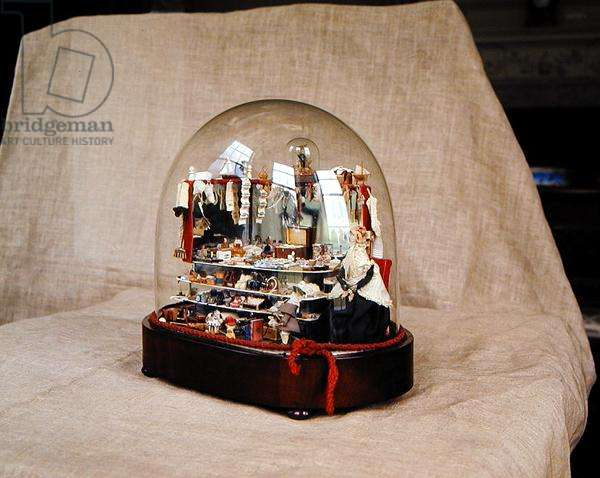 Toyshop in a glass case, late 19th century