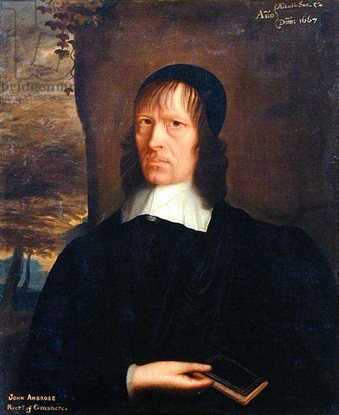Portrait of John Ambrose of Lowick, Rector of Grasmere, 1667 (oil on canvas)