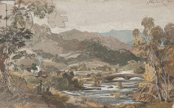 Skelwith Bridge, 1812 (w/c on paper)