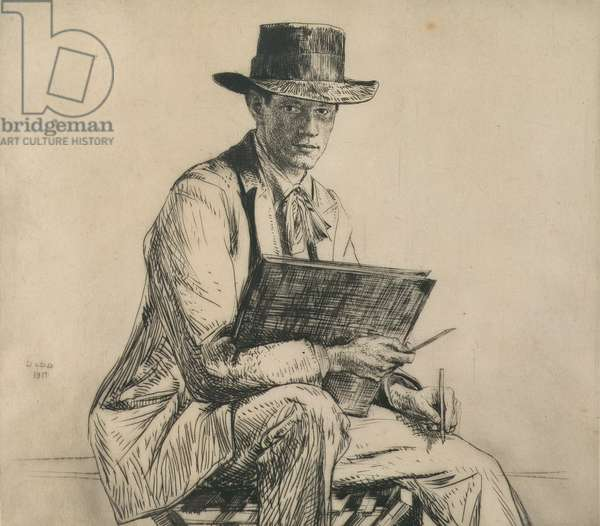Portrait of Henry Rushbury (1889-1968) 1914 (etching)