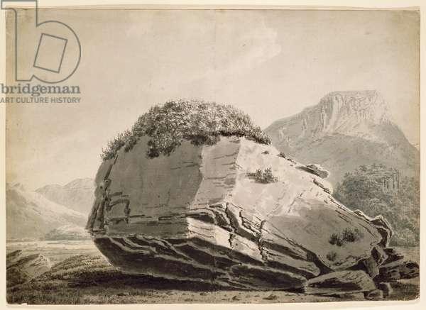 The Bowderstone Borrowdale (pen & ink on paper)