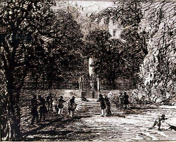 Edinburgh, 1809 (pen and ink on paper)