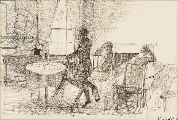 Breakfast table, 1810 (pen & ink on paper)
