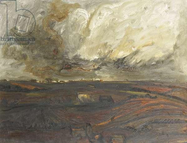 Cumbrian Landscape, 1964 (oil on canvas)