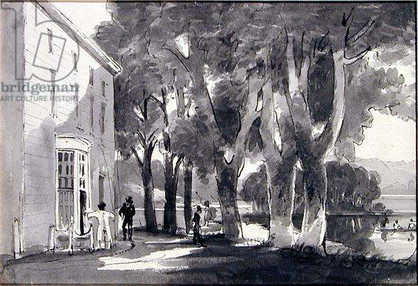 Brathay Hall (pen and ink wash on paper)