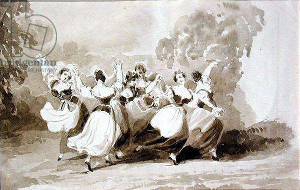 Dancing in a Ring (ink on paper)