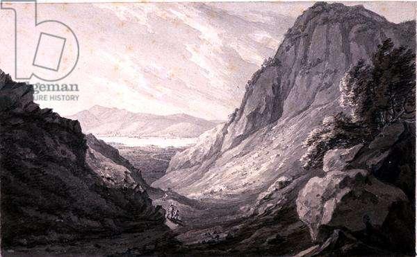 Derwentwater from Castle Crag (w/c on paper)