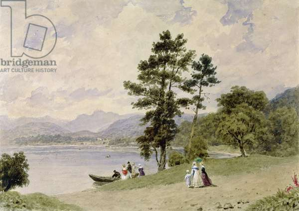Windermere, from Low Wood (w/c on paper)