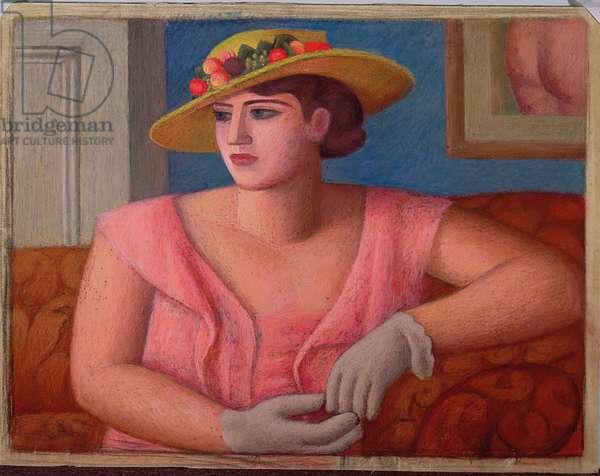 Portrait of Marjorie Gertler, 1933 (pastel on paper)
