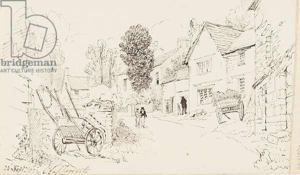 Clappersgate, 1823 (pen & ink on paper)