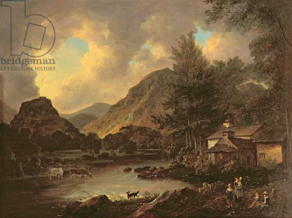 Castle Crag Borrowdale (oil on canvas)