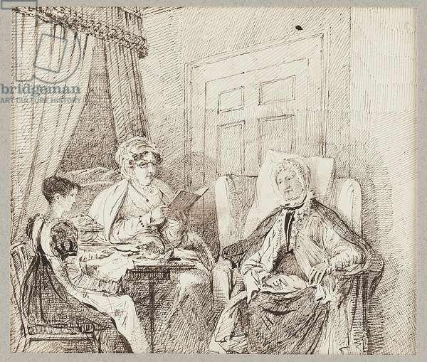 Interior scene (pen & ink on paper)