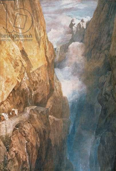 Passage of Mount St. Gotthard from the Devil's Bridge, 1804 (w/c on paper)