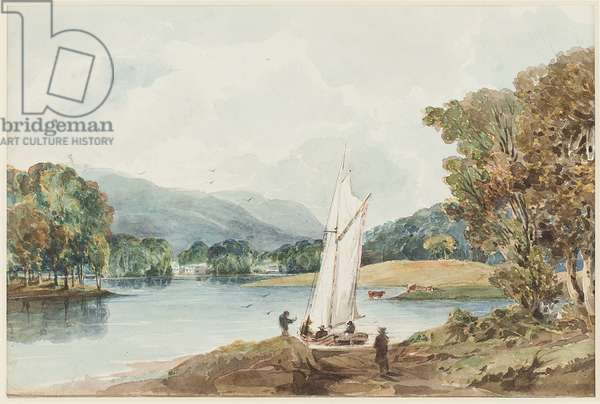 Lily of the Valley Island, Lake Windermere, Lake District, Cumbria, 1827 (w/c on paper)