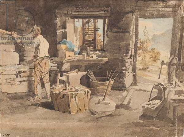 Blacksmith (w/c on paper)