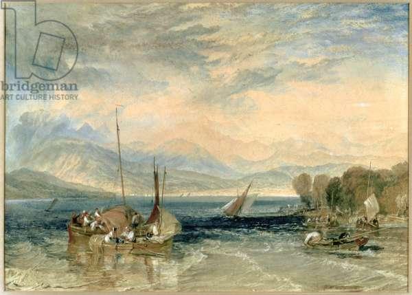 Windermere, 1821 (w/c on paper) (post-restoration)