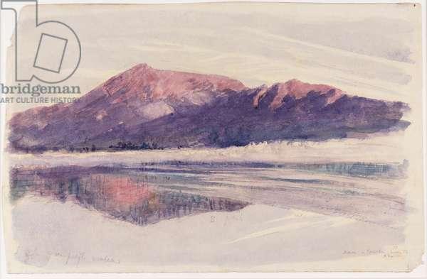 Dawn Coniston, 1873 (w/c on paper)