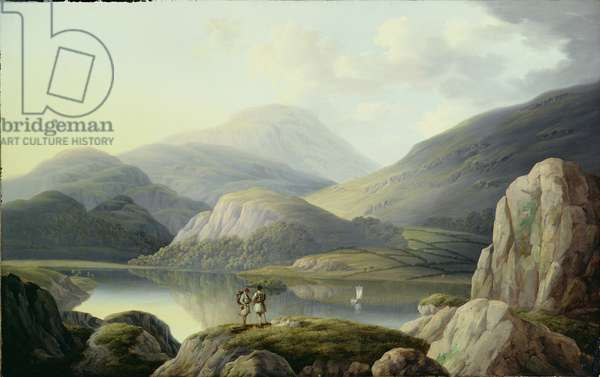 Ullswater Head, Cumberland (oil on canvas)