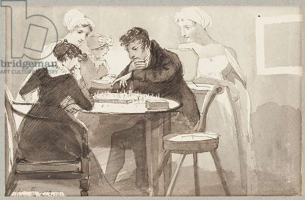 Chess, 1812 (w/c on paper)