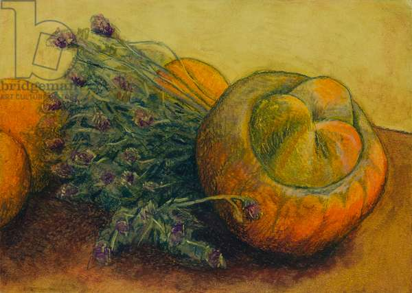Still life with thyme, 2011 (oil pastel on paper)