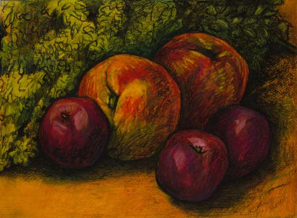 Fruit with herbs, 2011 (oil pastel on paper)