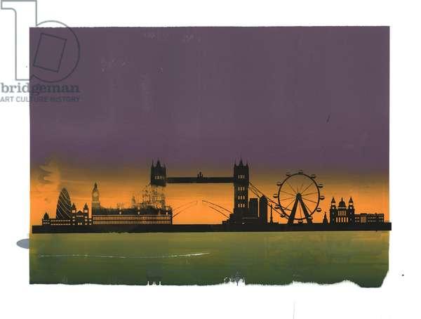Sunset on London
