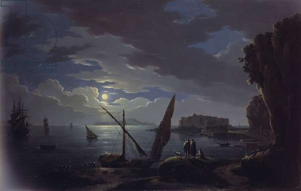 View of the Bay of Naples (oil on canvas)