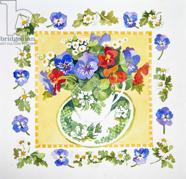 Pansies - nasturtiums, 2013, (watercolour)