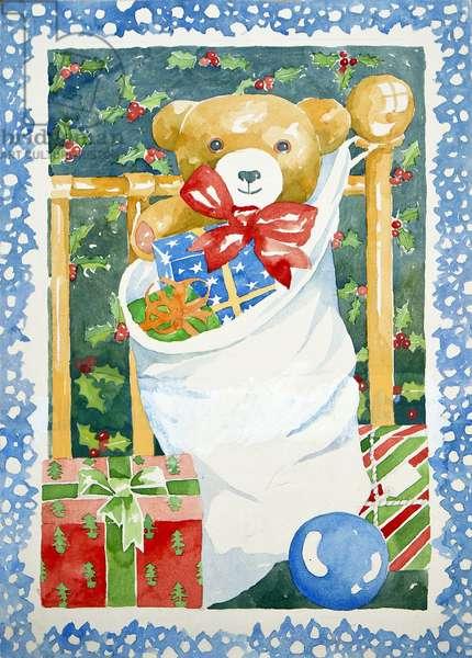 Christmas stocking, 2011, (watercolour)