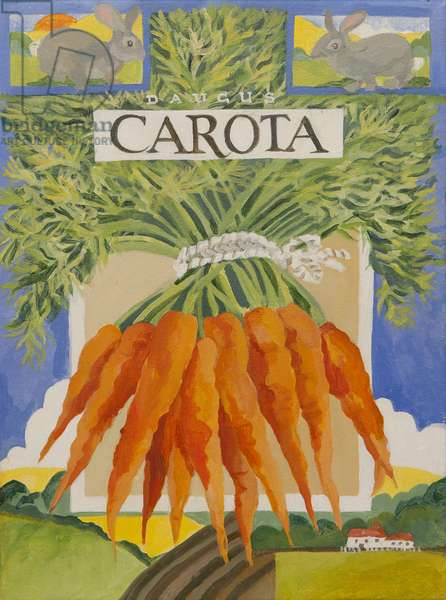 Carota, carrots (acrylic)