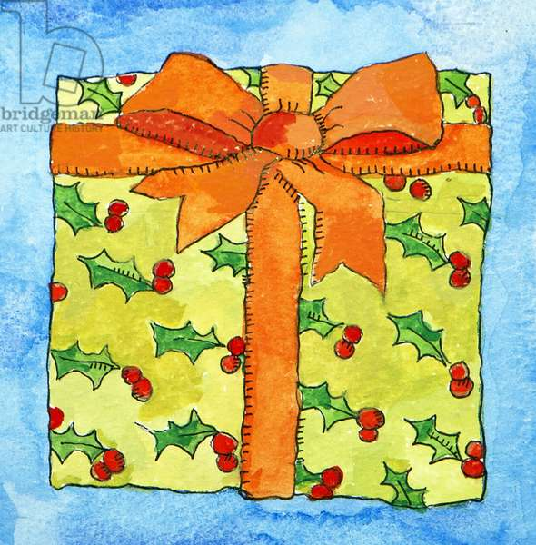 Wrapped gift, 2011 (watercolour)